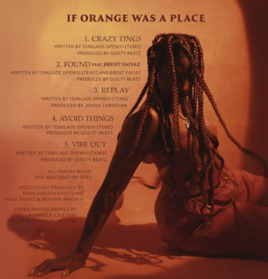 IF ORANGE WAS A PLACE album by tems
